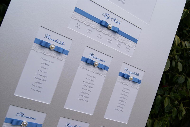 Wedding table plans wedding place cards sussex london for Table plan board