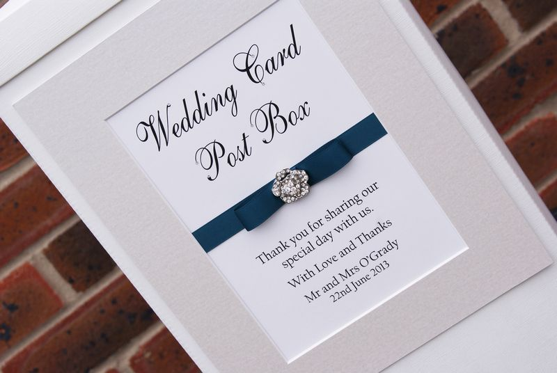 Wedding post boxes sussex london surrey kent black velvet frame with double colour ribbon with formal bow and crystal square embellishment stopboris Images